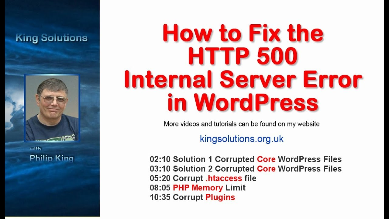 How to Fix the HTTP 500 Internal Server Error in WordPress