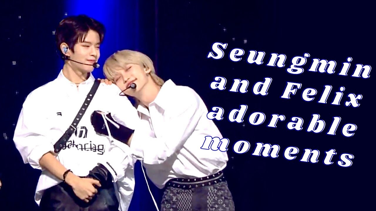 Felix basically cuddling Seungmin for 6 minutes straight (Seungmin and Felix cute moments) 🤣