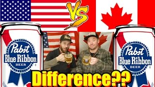 Difference?? USA vs Canada - Pabst Blue Ribbon