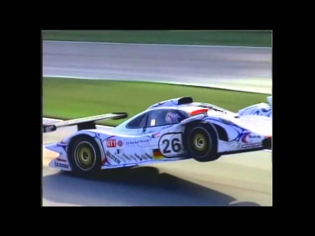 Porsche GT1 Yannick Dalmas Road Atlanta Crash
