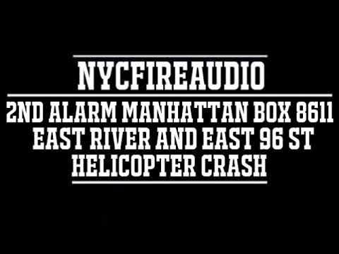 NYC Fire Audio - FDNY Manhattan 2nd Alarm Box 8611 Audio  - Helicopter Crash - 3/11/18