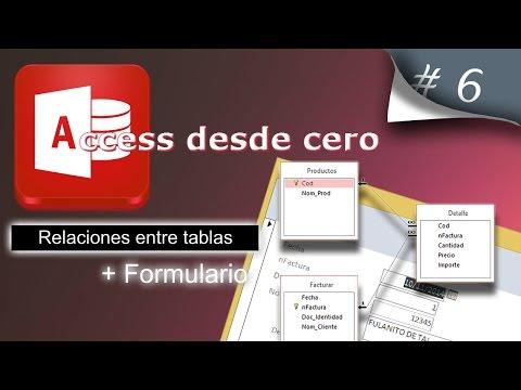Relaciones Entre Tablas + Formulario | Access Desde Cero #6