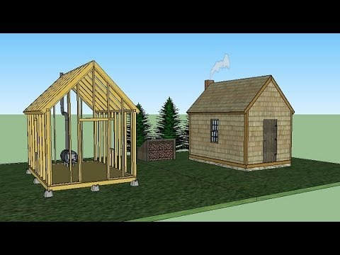 Thoreau cabin replica build for 1000 youtube for 14x14 cabin with loft