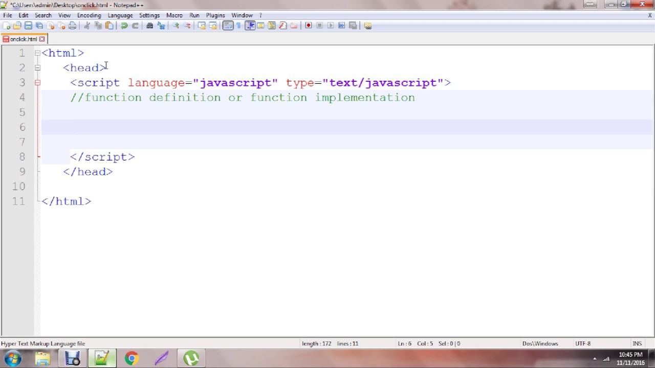 Onclick button function in javascript | Tutorial | Easy to learn