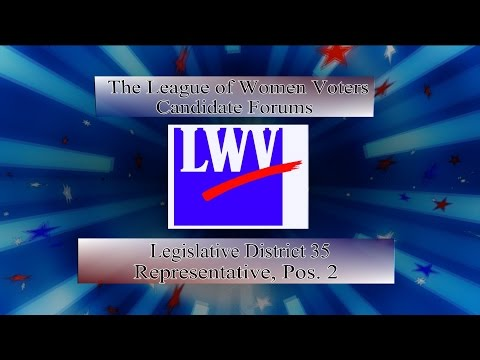 LWV Forum 2016 - WA State House, District 35  Position 2