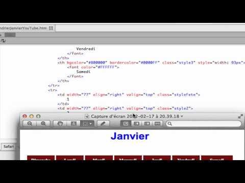 Apprendre Html - Calendrier En Html