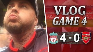 LIVERPOOL 4 v 0 ARSENAL | WENGER OUT!!! | MATCHDAY VLOG