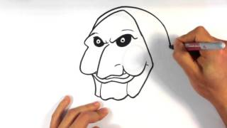 How to Draw Jigsaw from the Saw Movies - Halloween Drawings