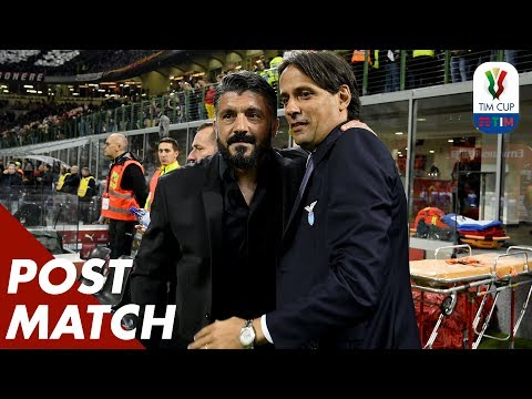 Milan 0-1 Lazio | Inzaghi and Gattuso Post Match Press Conference | TIM Cup 18/19