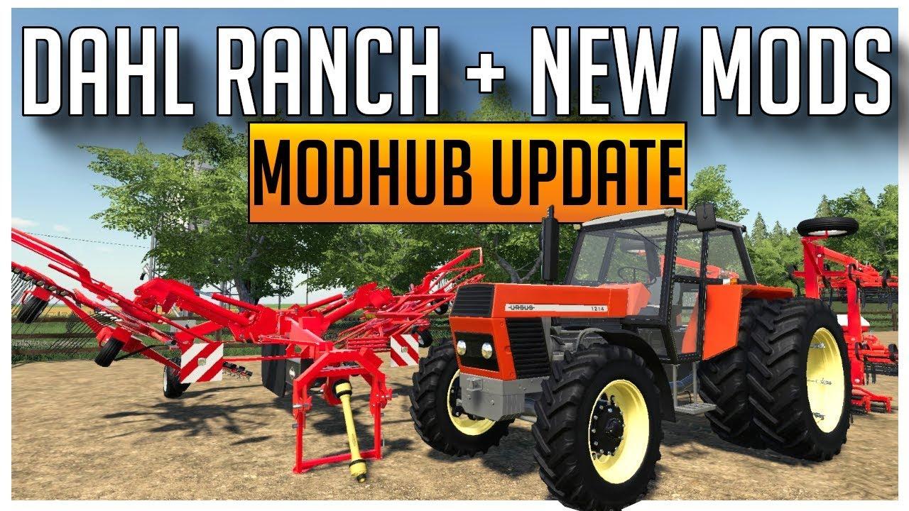 NEW MODS & MAP FOR FARMING SIMULATOR 19 | MODHUB UPDATE