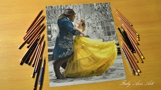 Beauty and the Beast 2017 - Colored Pencil Drawing