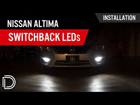 How to Install Nissan Altima Front Turn Signal Switchback LEDs