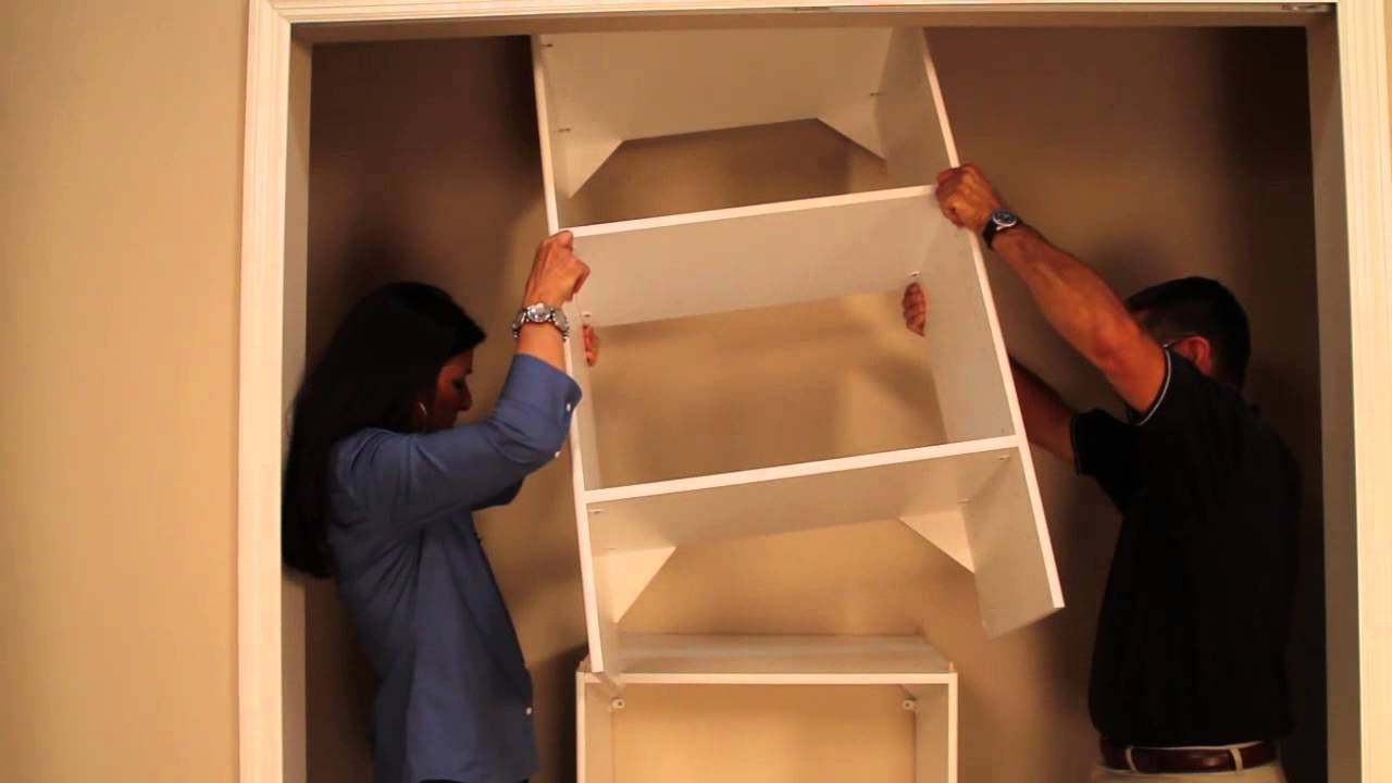 installing closetmaid laminate shelving