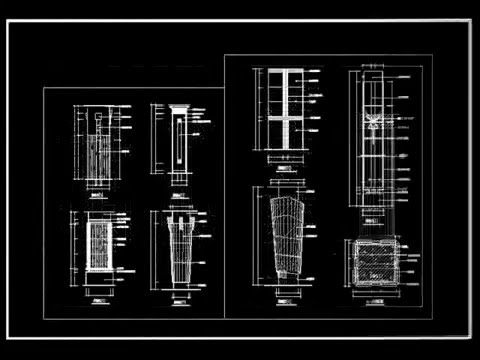 【Autocad Block】Roman column design decorative plate bars