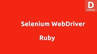 Selenium Ruby Webdriver for Firefox Tutorial
