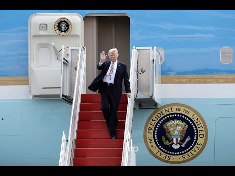 WATCH: President Donald Trump Returns to Washington DC in Air Force One and Helicopter Marine One