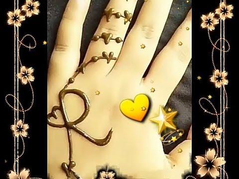 حالات حرف R رسم حرف R على اليد انت حبيب القلب حالات حب رومنسية Youtube