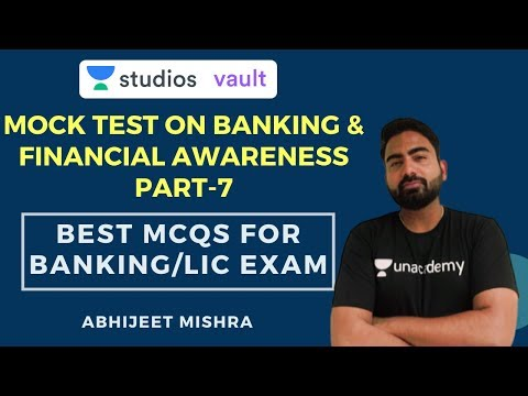 Mock Test On Banking & Financial Awareness Part-7 | Best MCQs For Banking/LIC Exam