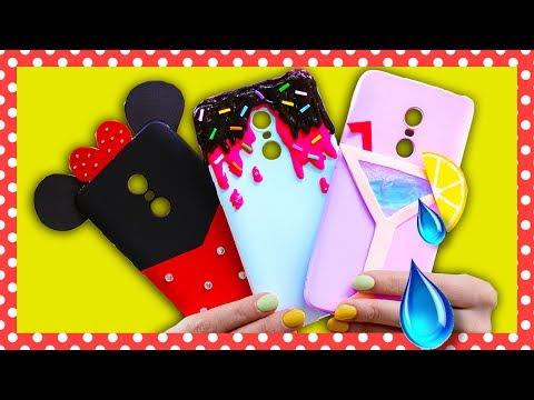 DIY Чехлы для телефона / Жидкий чехол / Микки маус  🐞 Afinka