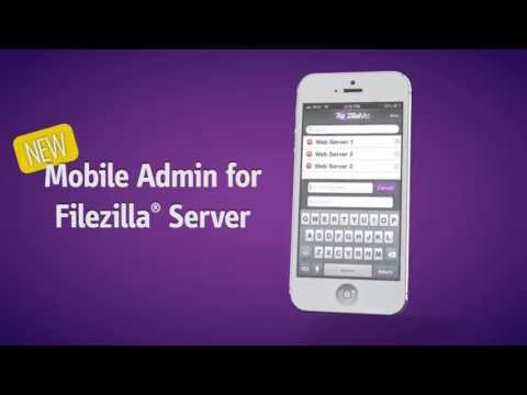Zillamo FileZilla Server Mobile Admin For IOS IPhone IPad  15sec