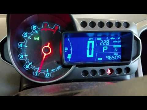 2013 Sonic Oil Light Rest Maintenance Light Reset Youtube