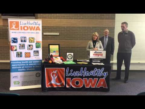 Chuck Long Kicks Off the 2015 Live Healthy Iowa 10 Week Wellness Challenge