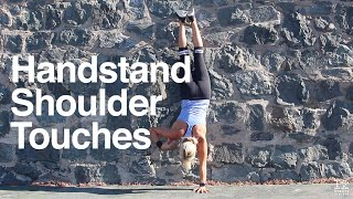 handstand shoulder touches