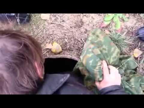 Спасение норки из колодца   Подборка видео от 10 12 2013