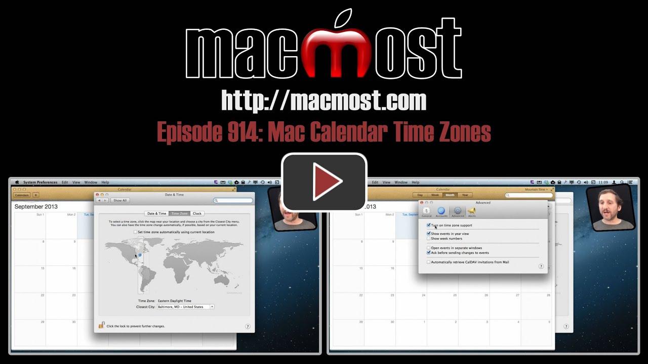 MacMost Now 914: Mac Calendar Time Zones