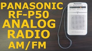 Panasonic Analog AM/FM Radio RF-P50
