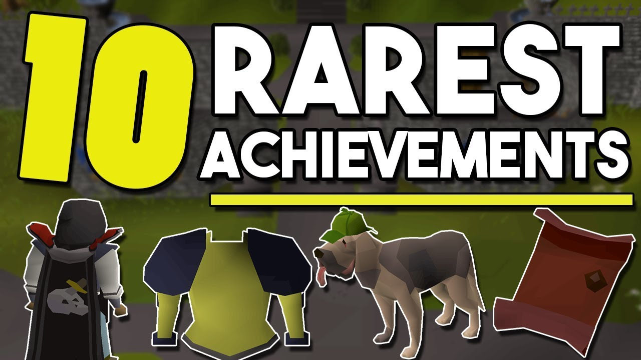 Top 10 of the Rarest Achievements in Oldschool Runescape! You May Never See  These Items! - [OSRS]