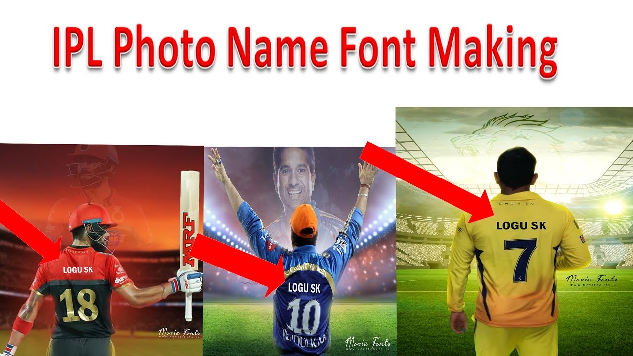 2018 How to make Ipl Name Font Photo | How is it super