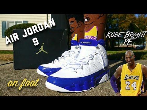 the best attitude ac23c 552f4 Air Jordan 9 ( Kobe Bryant PE ) On Foot - YouTube