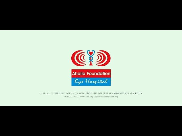 Doctor's Talk about CORNEA by Dr. Geethu.V | Ahalia Foundation Eye Hospital | Palakkad