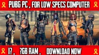 Pubg pc on pc || Pubg for low specs ||