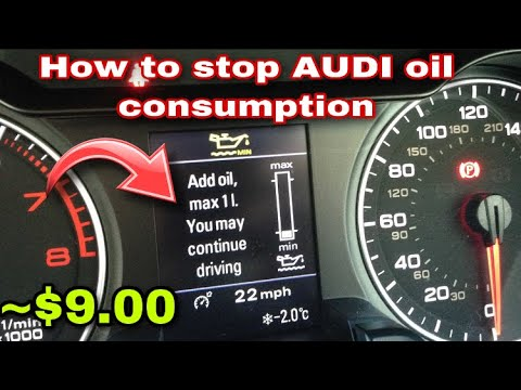 How to fix Audi Oil Consumption for $10.00 dollars | Hack Audi A5/A4/A3/A6/A7/A8/Q5/Q7/S4/S3/S5/S7