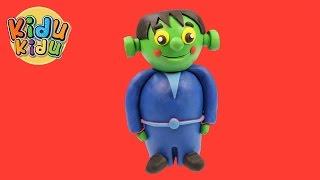 Learn How to Make Halloween Baby Frankenstein | Playdoh Modlling Creative DIY Fun for Kidu Kidu Kids