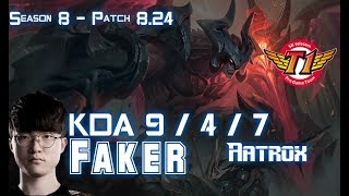 SKT T1 Faker AATROX vs NEEKO Mid - Patch 8.24 KR Ranked