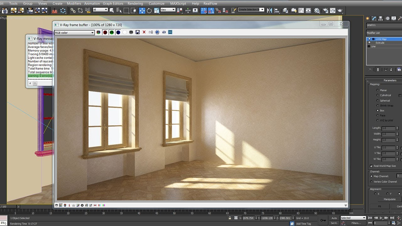 3dsmax vray modeling lighting rendering 123vid for Vray interior lighting rendering tutorial