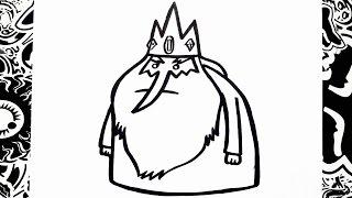 como dibujar al rey helado de hora de aventura   how to draw ice king