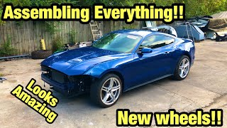 I Fixed Over $10,000 In Frame Damage On My Salvage Auction 2018 Ford Mustang Gt For Only $500