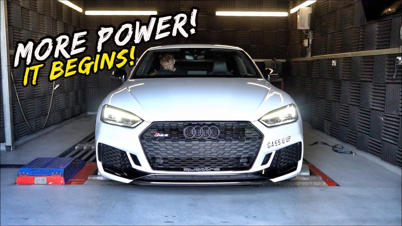 THE AUDI RS5 GETS MAPPED! HOW MUCH POWER!? *FIRST MODS*