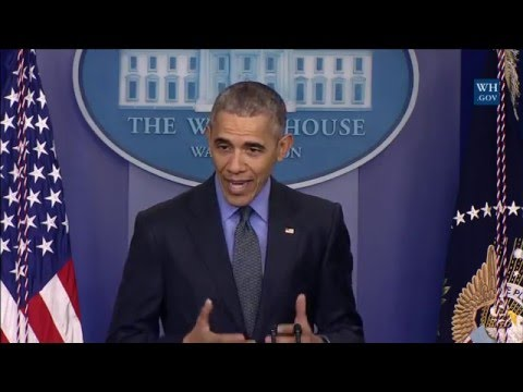 """We're Gonna Be Chasing After This Clean Energy Future"" Obama Holds End Of The Year Press Conference"