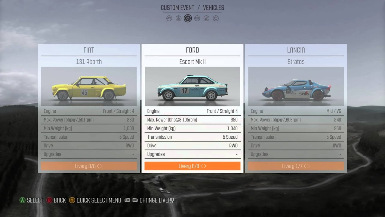 DiRT Rally: All Cars & Liveries (Added \