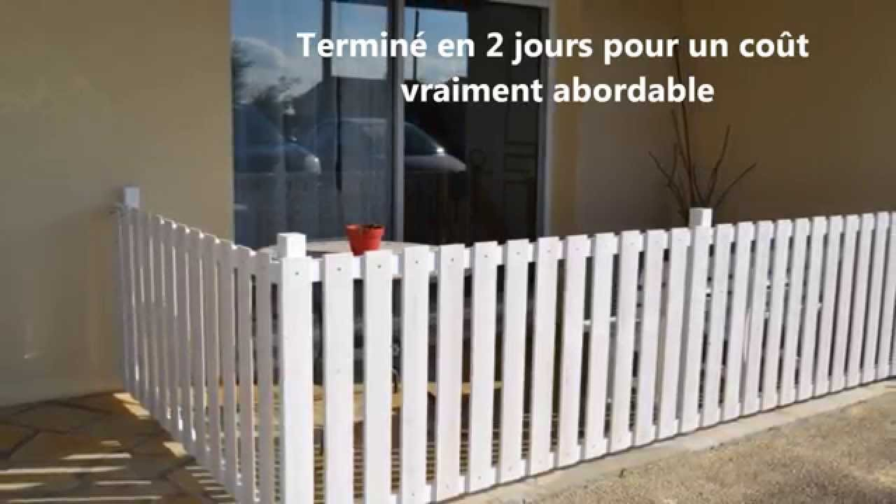 cloturer sa terrasse facile rapide et pas cher youtube. Black Bedroom Furniture Sets. Home Design Ideas