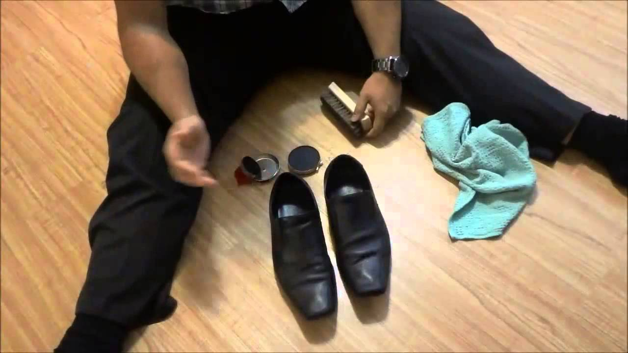 How to remove black scuff marks off leather shoes