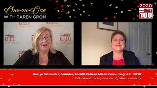 Roz Schneider, RozMD Patient Affairs Consulting LLC – 2020 PharmaVOICE 100 Celebration