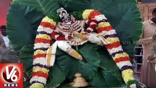 Yadadri Annual Brahmotsavam   Lakshmi Narasimha Swamy Appears In Va...