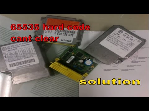 VW AUDI airbag code 65535 Internal Control Module Memory Error