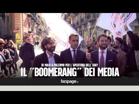 """Di Maio a Palermo: """"Gli attacchi alla Raggi? Saranno un boomerang per i media"""""""